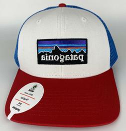 Patagonia P-6 Logo Mid Crown Trucker Mesh Snapback Hat in Re