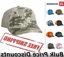 Richardson Patterned Snapback Trucker Cap Hat 112P mid-profi