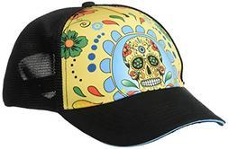 Headsweats Performance Trucker Hat, Fiesta Sugar Skull, One