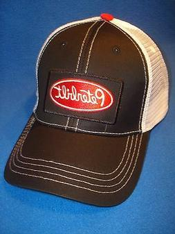 PETERBILT HAT / TRUCKER CAP / BLACK  / WHITE / PATCH SUMMER