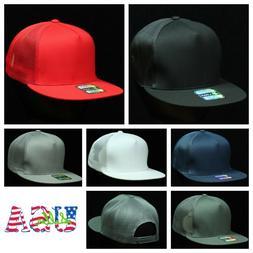 Plain Baseball Cap 5 Panel Mesh Trucker Fashion Casual Snapb
