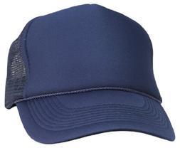 DALIX Plain Trucker Hat in Navy Blue