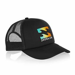 Billabong Podium Trucker Kids Headwear Cap - Black Yellow On