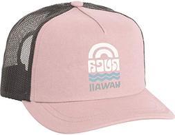 RVCA Polly Hawaii Trucker Hat Tea Rose One Size