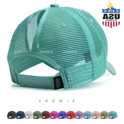Ponytail Baseball Cap Messy High Buns Mesh Trucker Visor Sum