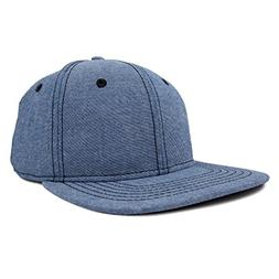 DALIX Premium Flat Bill Snapback Chambray Hat 6 Panel Cap