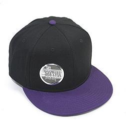 Premium Plain Cotton Twill Adjustable Flat Bill Snapback Hat