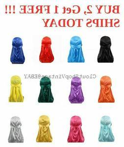 Premium Silky Durag Satin Wave Cap Men's Doo Rag Hat Bonnet