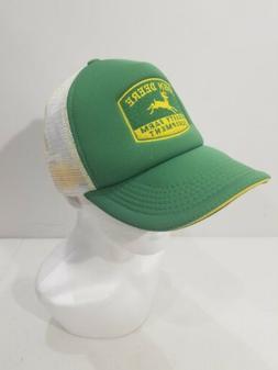 JOHN DEERE QUALITY FARM EQUIPMENT PATCH TRUCKER HAT CAP SNAP