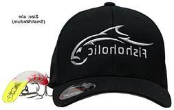 Fishoholic Baseball Fishing Hat ~ 6 Colors & 3 Sizes. Angry