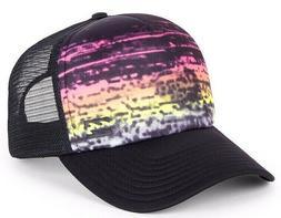 Billabong Range Black Snap Back Trucker Cap. One Size. NWOT,