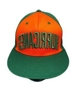 RARE Adidas Miami Hurricanes Canes Snapback Trucker Hat Gree