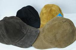 REAL GENUINE 100% Lambskin Suede Leather Baseball Cap Hat Tr