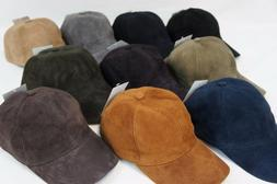 REAL Lambskin Suede Leather Baseball Cap Hat Biker Trucker S