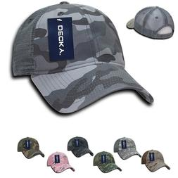 Decky Relaxed Camo Camouflage 6 Panel Pre Curved Bill Trucke
