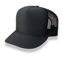 Retro Foam & Mesh Trucker Baseball Hat, Black