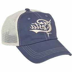 Costa Del Mar Retro Trucker Hat with Snap Closure, Blue/Ston