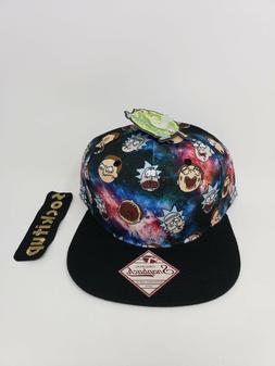 Rick and Morty Bioworld Merch novelty Snapback Hat NEW mens