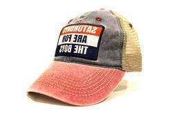 Saturdays Are For The Boys Trucker Hat Baseball Cap Flag Sty