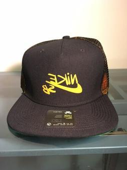 Nike SB Adjustable Trucker Hat Unisex Black/Orange