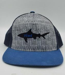 PRANA Shark Bait Blue Trucker Hat Snapback Adjustable