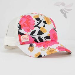 Billabong Shenanigans Trucker Hat New Women's Floral Pink Wh