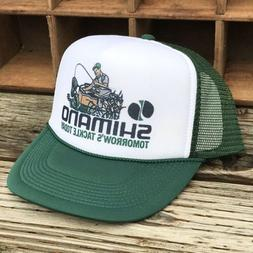 Shimano Fishing Derby Style Vintage 80's Trucker Hat Snapb
