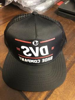 Dvs Shoe Co SnapBack Trucker Hat New With Tags Black Red One
