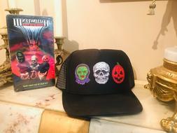 silver shamrock halloween 3 custom trucker hat