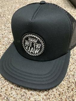 Vans Since 66 Patch Black Trucker Hat Adjustable Cap One Siz