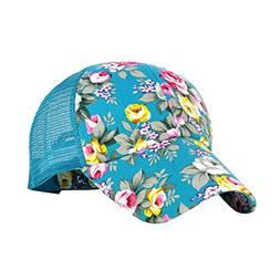 Eforstore Snapback Baseball Cap Floral Perforated Ball Caps