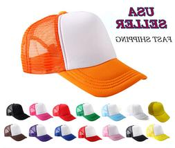 Snapback Mesh Foam Trucker Baseball Adjustable Hat Two Tone