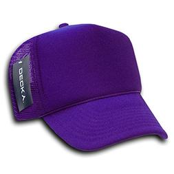 DECKY Solid Trucker Cap, Purple