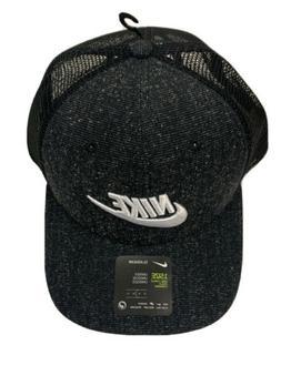 NIKE SPORTSWEAR CLASSIC99 SNAPBACK TRUCKER HAT CAP - Black -