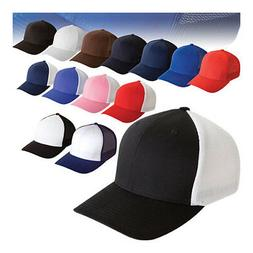 ss  Flexfit® 6511 Trucker Mesh Baseball Hat/cap Curved Bill