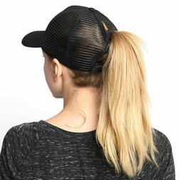 Summer Baseball Cap Women Messy Bun Ponytail Adjustable Spor