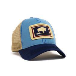 Surfing Buffalo Structured Trucker Hat, Women's Fit, Blue