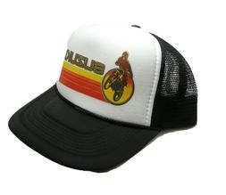 Suzuki hat trucker hat snap back hat new black motocross rac