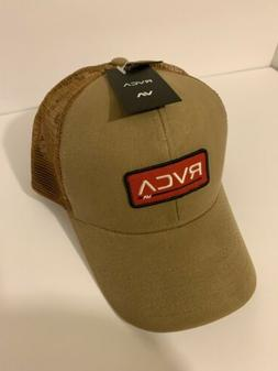 RVCA Ticket Trucker Hat Cap Skate Surf RVCA VA mesh Khaki -