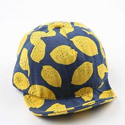 ArMordy Fashion Lemon Print Children Hats Cute Cotton Baby H