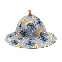 ArMordy Pineapple Print Baby Summer Hat Cotton Kids Bucket H