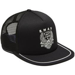 Vans TRASK  Mens Trucker Hat  Black Snapback Cap OFF THE WAL