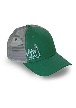 Deep Ocean Treeline Trucker Hat, Green, One Size