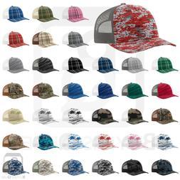 Richardson Trucker CAMO Patterned Snapback Cap Baseball Hat
