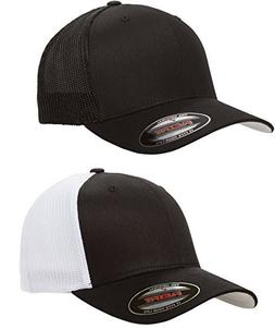 Flexfit - Trucker Cap - 6511 -  1-Solid Black & 1-Black/Whit