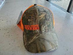 Trucker Hat Adjustable Back Orange & Realtree Ford Powerstro