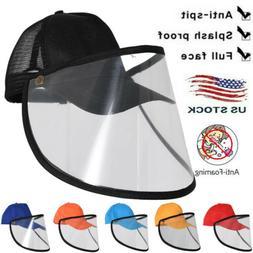 Trucker Hat Baseball Cap +Clear Cover Saliva-proof Dust-proo