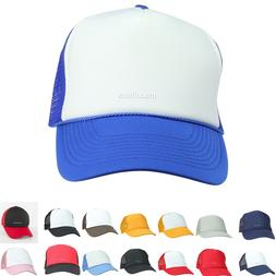 Trucker Hat Baseball Cap Mesh Caps Blank Plain Hats Men Wome