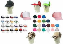 Trucker Hat Baseball Cap Mesh Retro Caps Blank Plain Hats OR