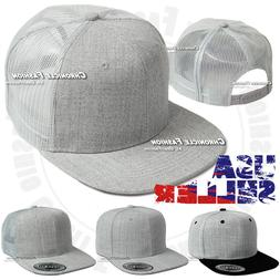 Trucker Hat Baseball Mesh Back Cap Snapback Adjustable Solid